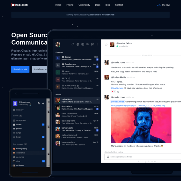 Rocket.Chat - Free, Open Source, Enterprise Team Chat