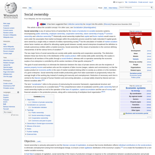 Social ownership - Wikipedia