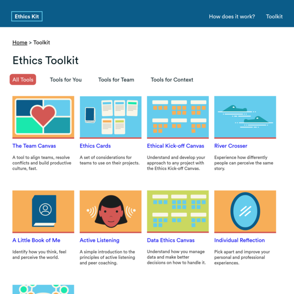 Ethics Kit | Methods & tools for ethics in the design process