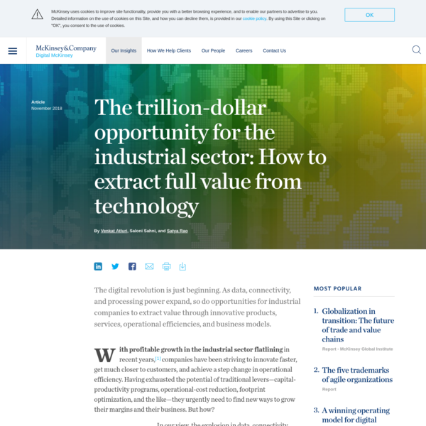 The trillion-dollar opportunity for the industrial sector: How to extract full value from technology
