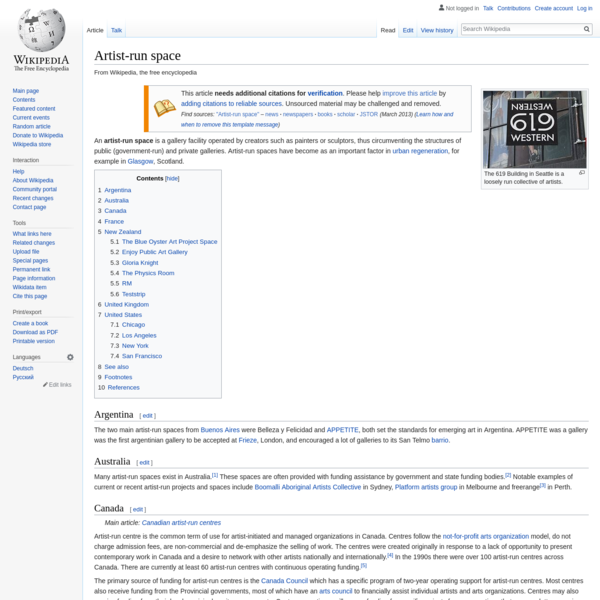 Artist-run space - Wikipedia