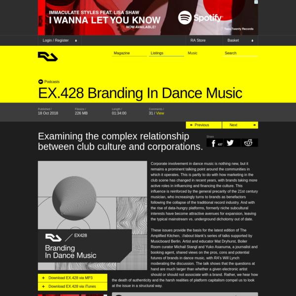 EX.428 Branding In Dance Music