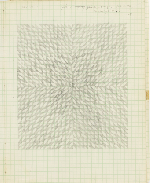 Anni Albers, Drawing from a notebook, 1970