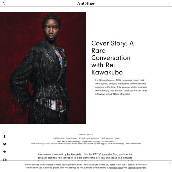 Cover Story: A Rare Conversation with Rei Kawakubo | AnOther