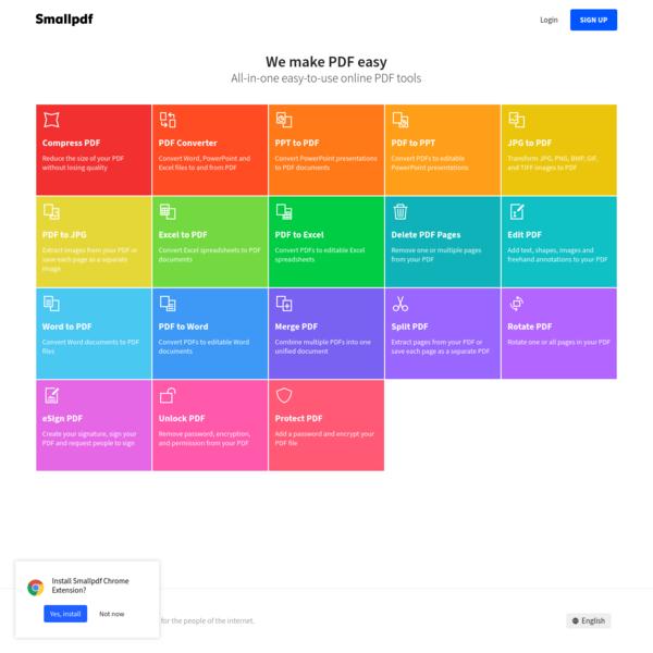 Smallpdf.com - A Free Solution to all your PDF Problems