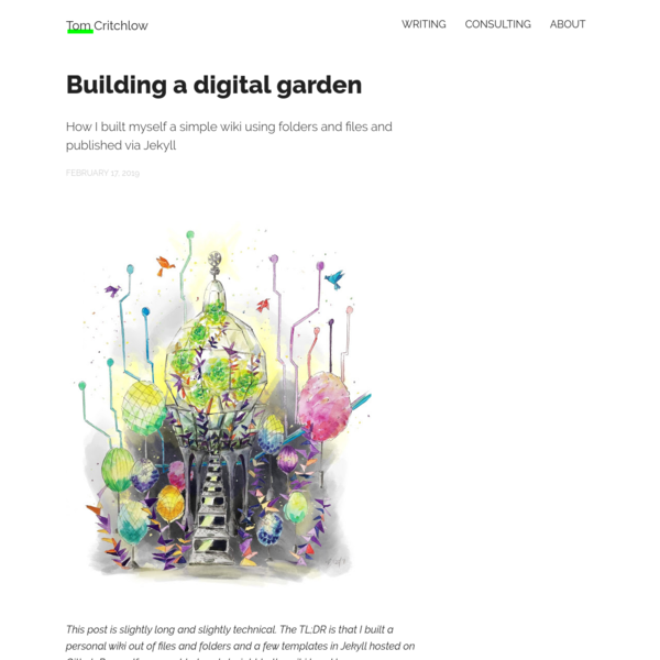 Building a digital garden