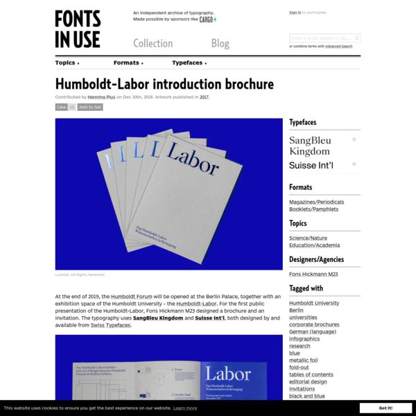 Humboldt-Labor introduction brochure