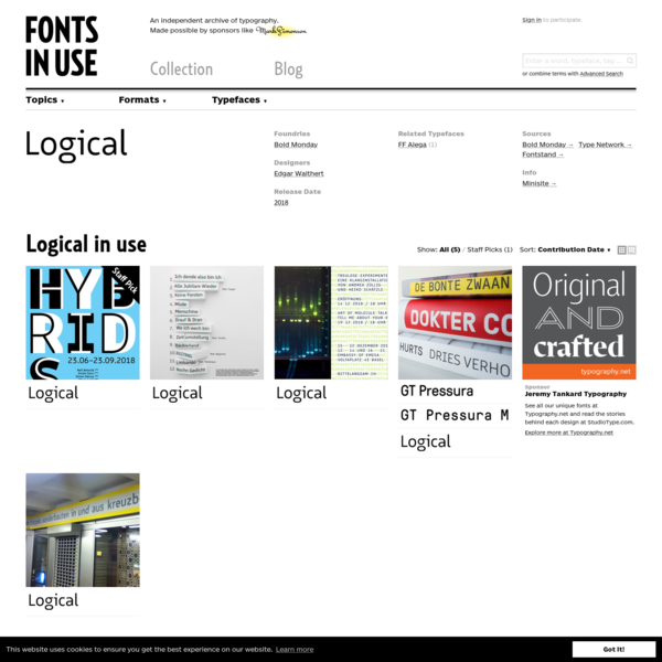 Logical in use - Fonts In Use