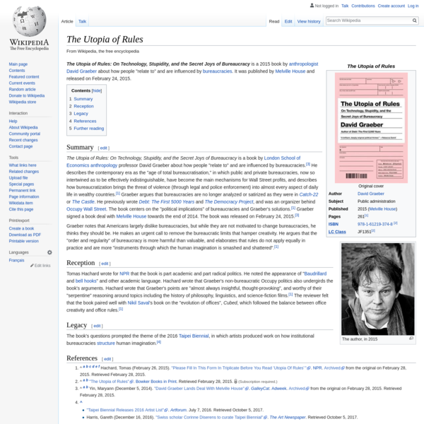 The Utopia of Rules - Wikipedia