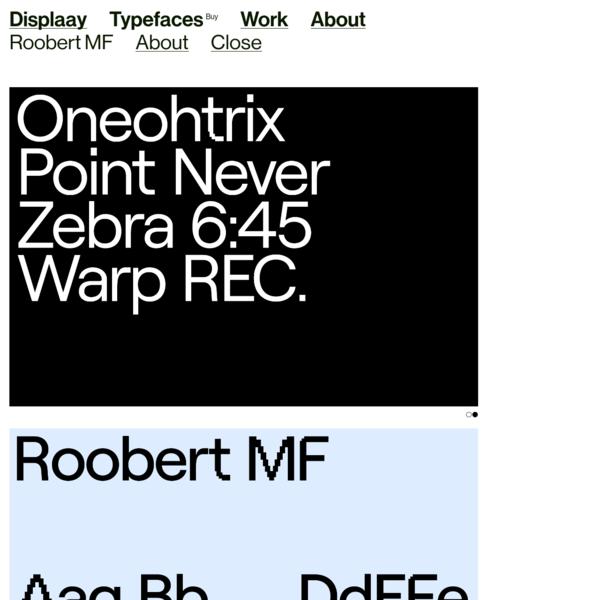 Roobert MF - Displaay Type Foundry