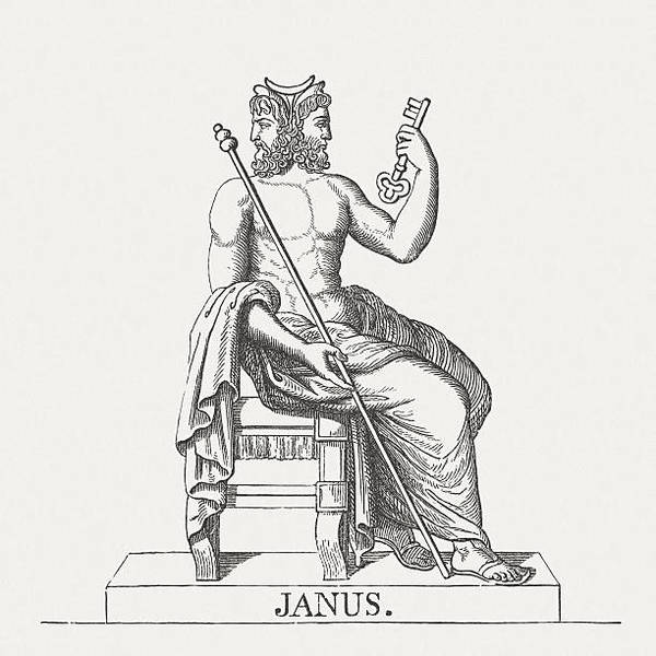 janus-roman-god-of-beginnings-and-transitions-published-in-1878-illustration-id507852815?k=6-m=507852815-s=612x612-w=0-h=mta...