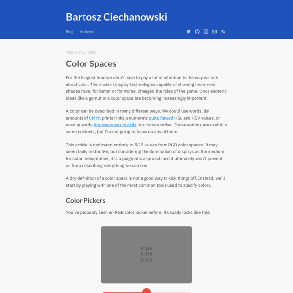Color Spaces - Bartosz Ciechanowski