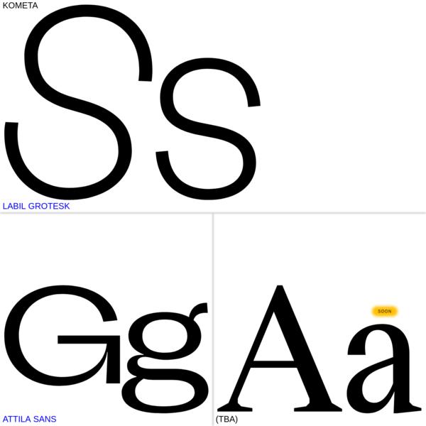 Typefaces   KOMETA