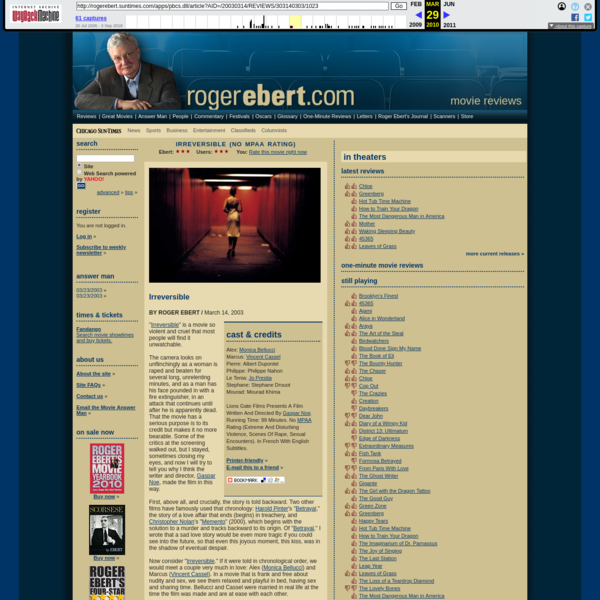 Irreversible :: rogerebert.com :: Reviews