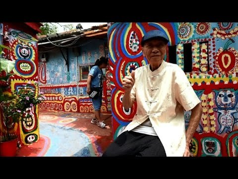 The 'Rainbow Grandpa' saving a Taiwan village with art