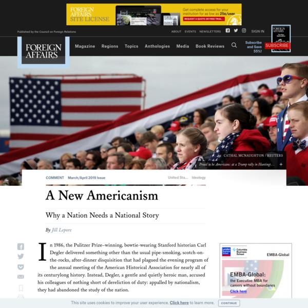 A New Americanism
