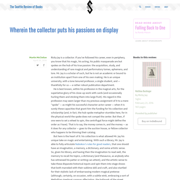 Wherein the collector puts his passions on display, by Martin McClellan