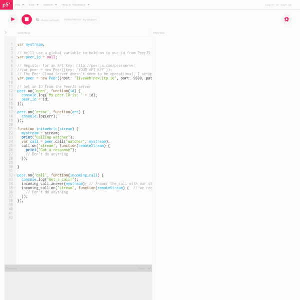 A web editor for p5.js, a JavaScript library with the goal of making coding accessible to artists, designers, educators, and beginners.