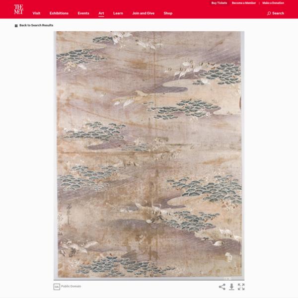 Textile Design for Stencil | Japan | The Met