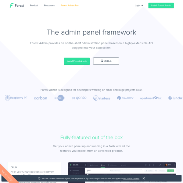 Forest Admin - The Admin Panel of your web app.