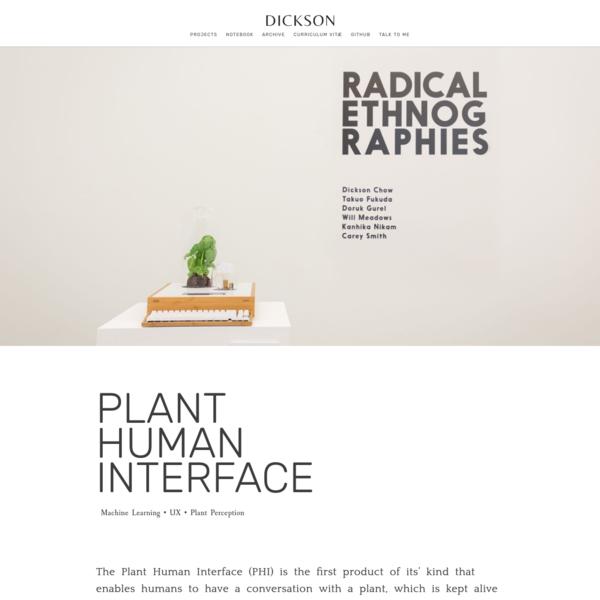 DICKSON - PLANT HUMAN INTERFACE