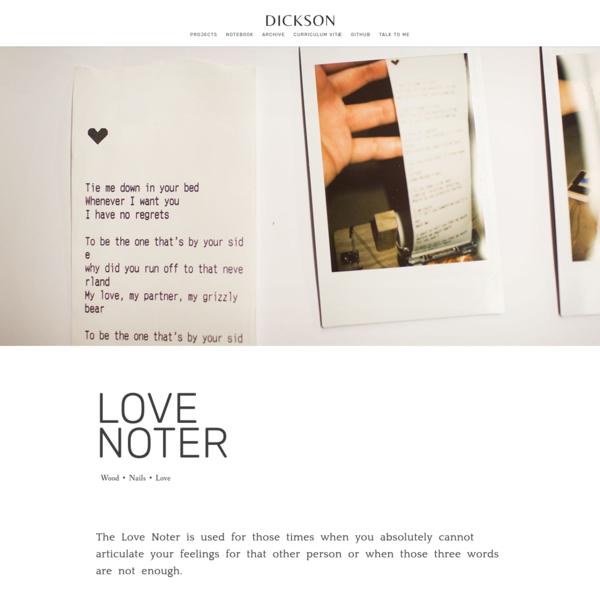 DICKSON - LOVE NOTER