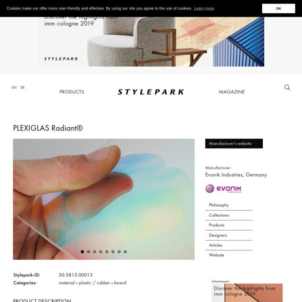 PLEXIGLAS Radiant® by Evonik Industries | STYLEPARK