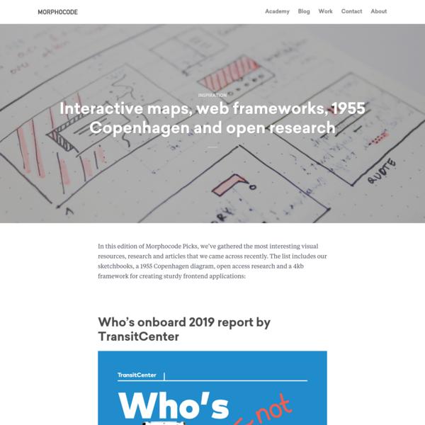 Interactive maps, web frameworks, 1955 Copenhagen and open research - MORPHOCODE