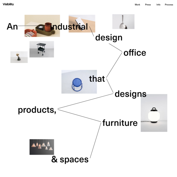 Visibility is an industrial design office based in New York, co-founded by Joseph Guerra and Sina Sohrab.