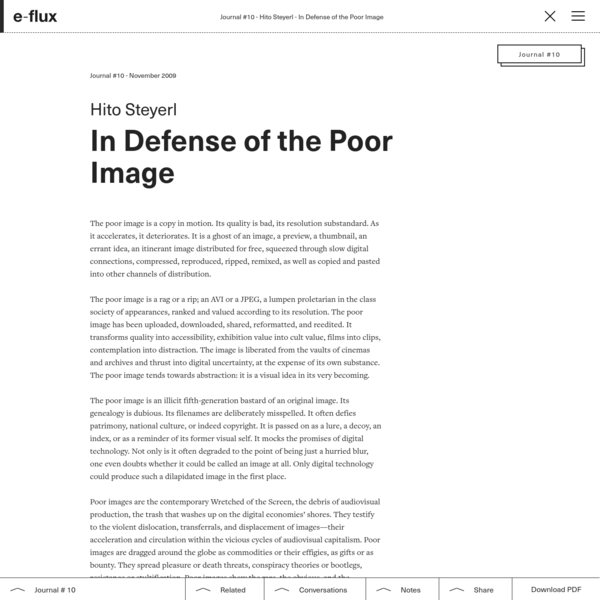 In Defense of the Poor Image