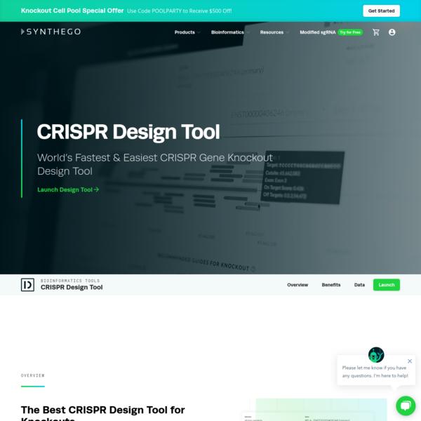 CRISPR Design Tool | Better gRNA Designs for Better Results