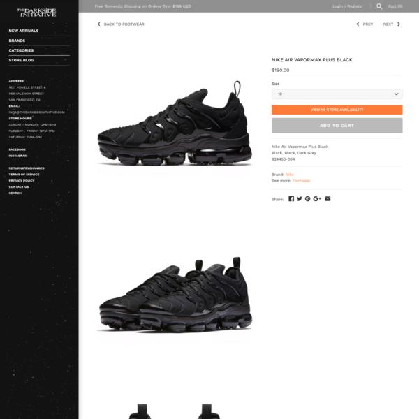 Nike Air Vapormax Plus Black - The Darkside Initiative
