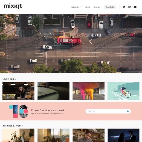 Mixkit - Extraordinary Free HD videos