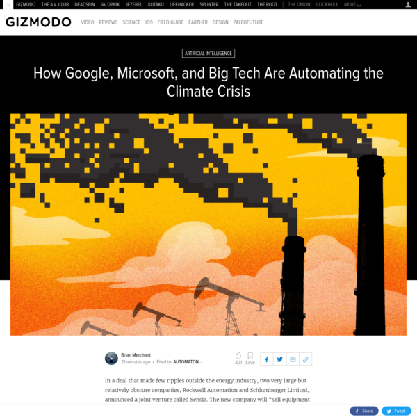 How Google, Microsoft, and Big Tech Are Automating the Climate Crisis