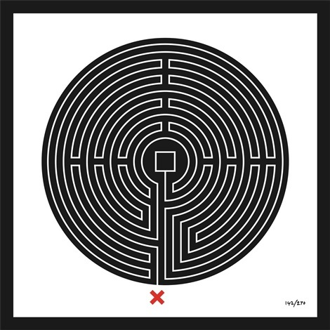 Mark Wallinger, Labyrinth #142 Bank, 2013