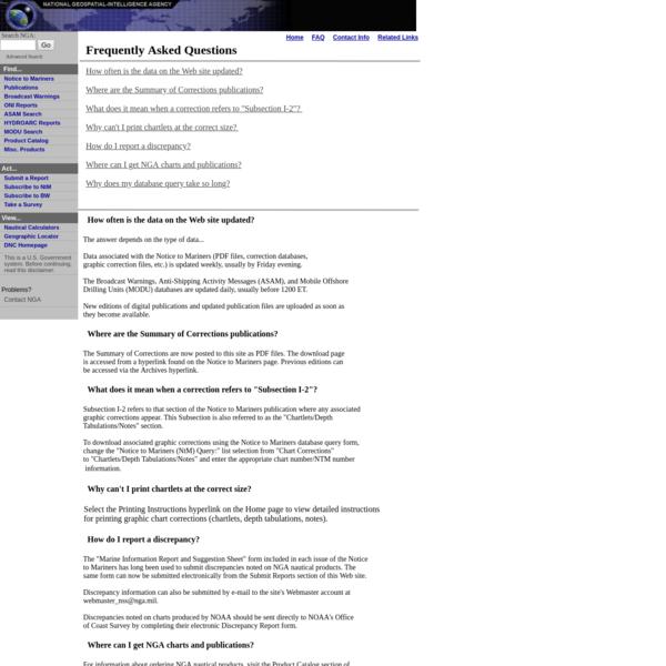 Mariner Reports via National Geospatial-Intelligence Agency