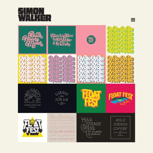 Simon Walker   Designer & Lettering Artist   Images