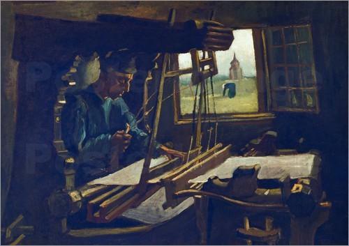 """Van gogh """"Der Weber"""" 1884 (30.5 x 40.5); Raum 2 - """"Anthropomorphie der Maschine"""""""