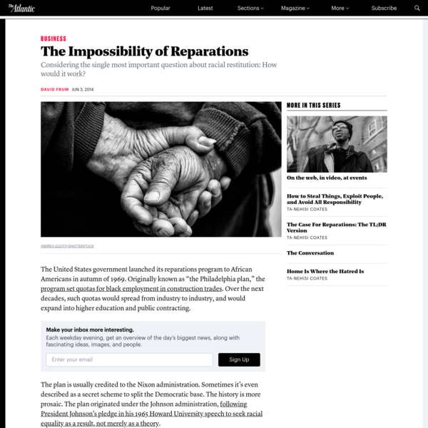 The Impossibility of Reparations