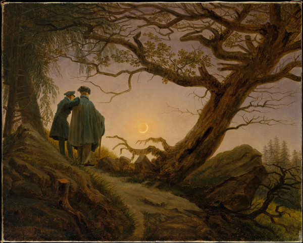 g-d-friedrich-two-men-contemplating-the-moon - 1825