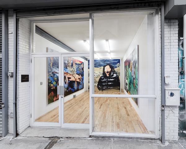 "Jamian Juliano-Villani, Installation view, ""Crypod"", JTT, New York, 2015"