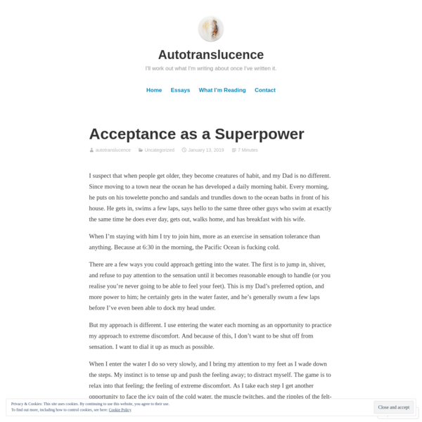 Acceptance as a Superpower – Autotranslucence