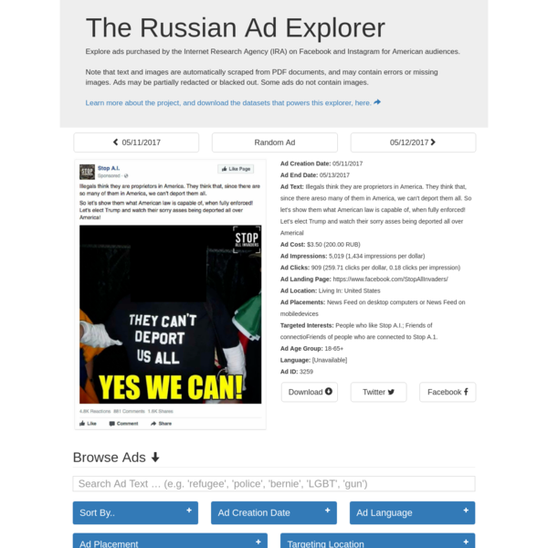 The Russian Ad Explorer