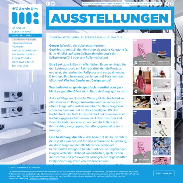 Nicht mein Ding - Gender im Design - HfG Archiv Ulm