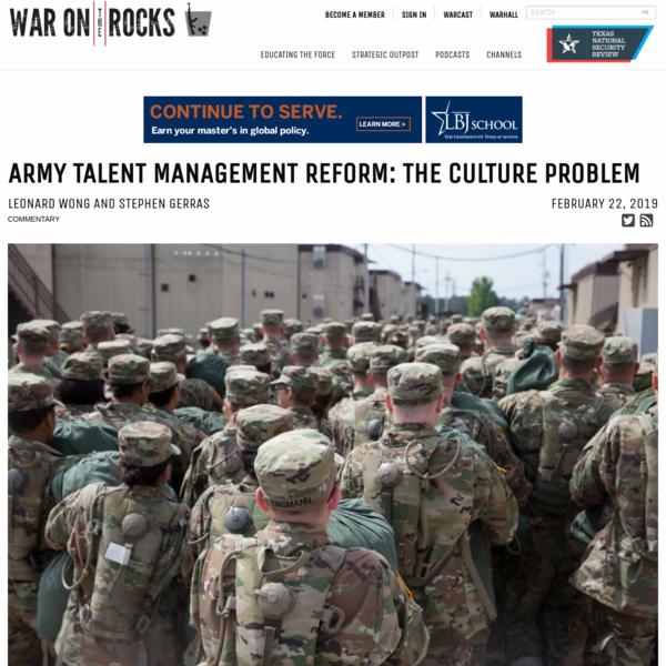 Army Talent Management Reform: The Culture Problem