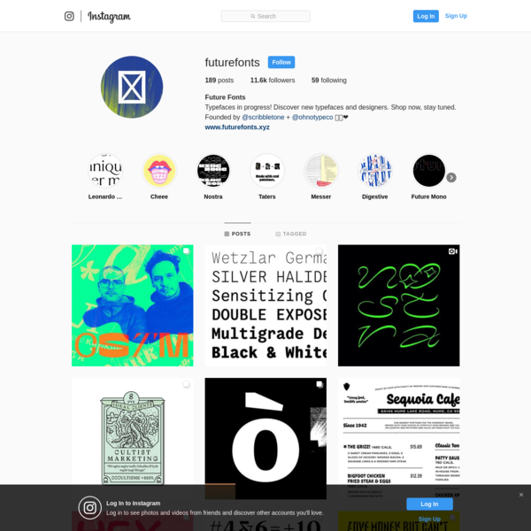 Future Fonts (@futurefonts) * Instagram photos and videos