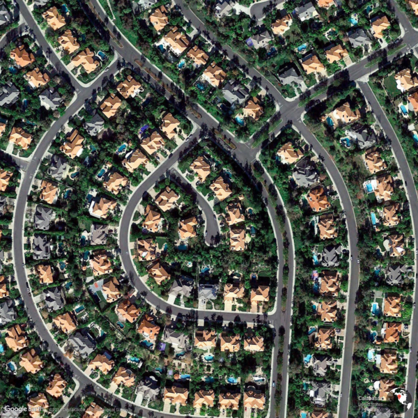 Calabasas, United States - Earth View from Google