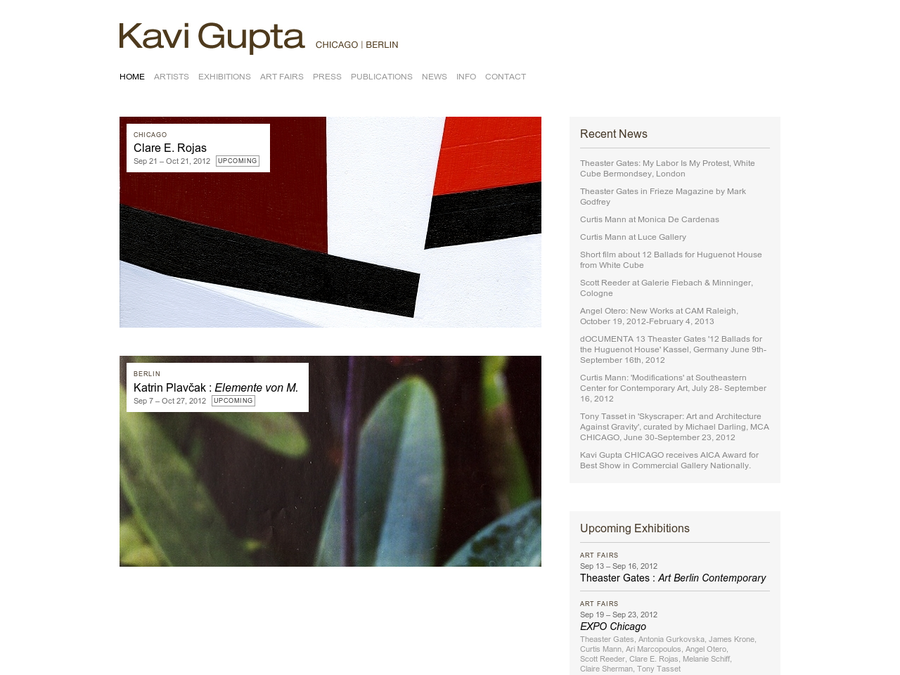 Kavi Gupta exhibits contemporary art by international emerging and mid-career artists in all media.