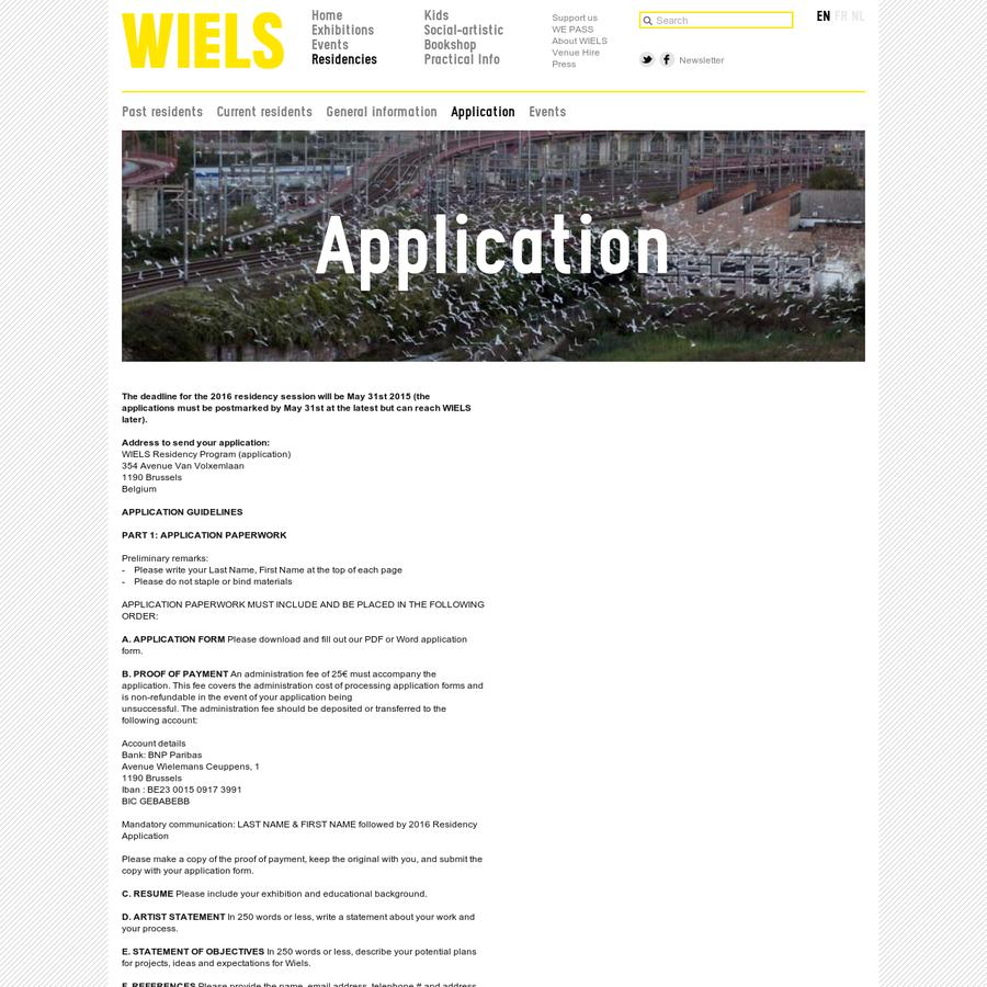 application wiels