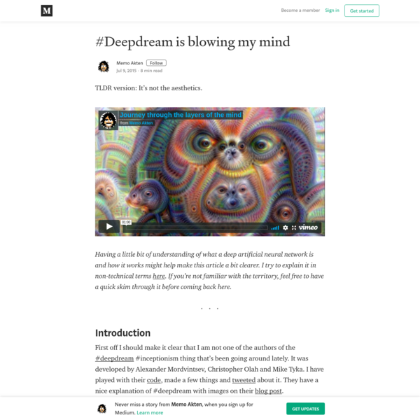 #Deepdream is blowing my mind - Memo Akten - Medium